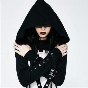 Tops - Punk Gothic Bondage Sexy Corset Hood Top New
